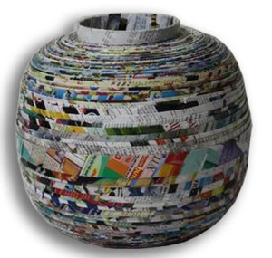 Recycled-paper-vase