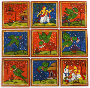 Odhisha Pattachitra Wall Panel depicting learning and livelihoods.