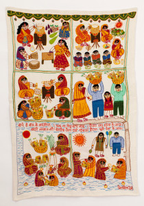 Story telling and songs with Applique and Embriodery, Bihar.